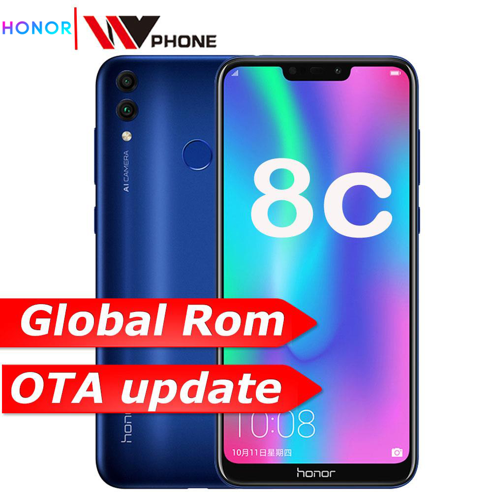 Original Honor 8C 4GB 32GB  6.26 Inch  Snapdragon 632 Octa Core Front 8.0MP Dual Rear Camera 4000mAh Face ID
