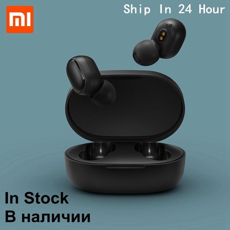 Original Xiaomi Redmi Airdots Bluetooth Wireless Earphone TWS 5.0 HiFi Bass Bluetooth Headset With Mic AI Voice Control In Stock