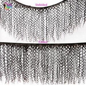 Image 2 - Cheveux naturels non remy bouclés malaisiens Jerry, cheveux humains, 4x4, avec lace closure, couleur naturelle, 8 à 26 pouces, faible Ratio