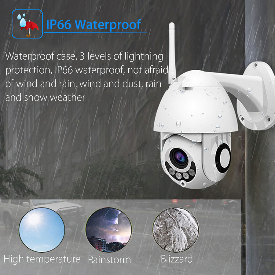 N_eye ip camera 2MP 4K HD outdoor waterproof Camera with color night vision PTZ Security wifi smart security camera 360° camera