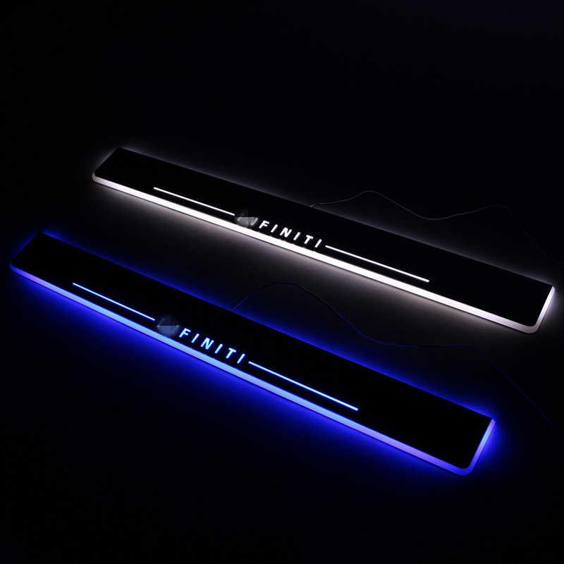 SJ Custom Fit Trim Pedaal Auto Exterieur Onderdelen LED Instaplijsten Scuff Plaat Auto Accessoires licht Voor Infiniti Q50 Q70 2013 2014 2015