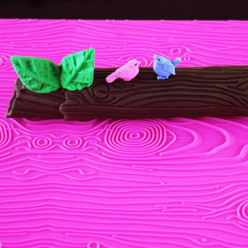 עץ בארקר צורת סיליקון יצק עוגת קישוט כלים, סיליקון שרוכי עובש, סיליקון עוגת אפיית מחצלת