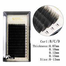 New 12 Rows B-C-D curl eyelash 8-13mm extension 0.05mm 3d mink lashes