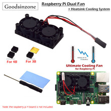 Raspberry Pi 4 Model B,3B+ Dual Fan with Pi 4B Heatsink Kit, Cooling Fan Kit with Tape for Raspberry Pi 4B / 3 B+