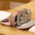 Корейский большой пенал портативный из парусины симпатичный карандаш коробка для детей Двухслойное хранение ручек сумка  школьные принадл...
