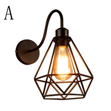 цена на Vintage Wall Lamp Warehouse Loft American Country Retro Industry Vintage Iron Wall Lamps Vintage Decorative Led Wall Light E27