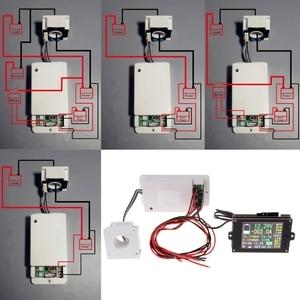 Dc 500 v 100a 200a 500a sem fio voltímetro amperímetro coulômetro bateria medidor de energia 35ed