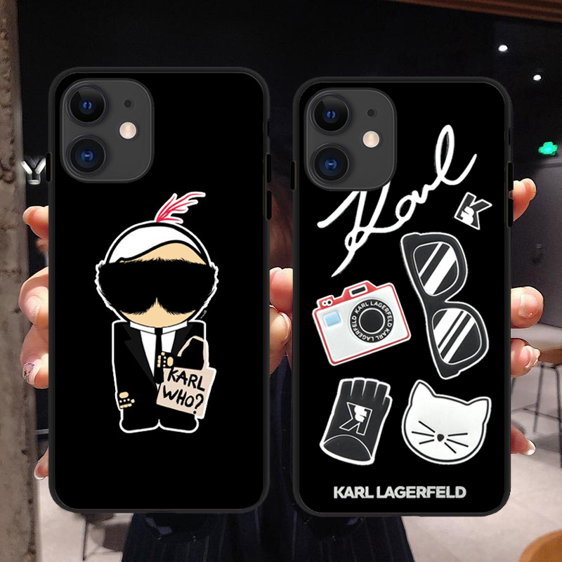 Karl Lagerfeld Fashion Brand Creator Soft Silicone Phone Cases For IPhone 11Pro MAX 2019 5S SE 6S Plus 7 8Plus X XR XS MAX Cover