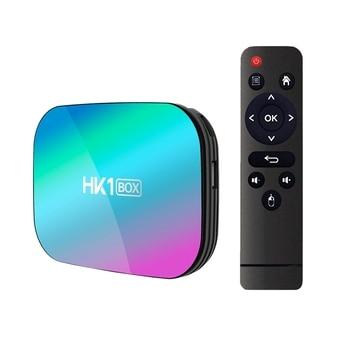 HK1 Box Smart TV BOX Amlogic S905X3 Android 9.0 4GB RAM 32GB ROM 2.4G 5G Wifi Bluetooth 4K UHD Set Top Box(US Plug)