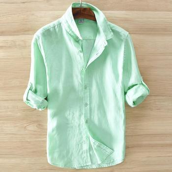 Summer 2020 men's 100% cotton long-sleeved shirt maa1 casual shirt KJJ988-01-06
