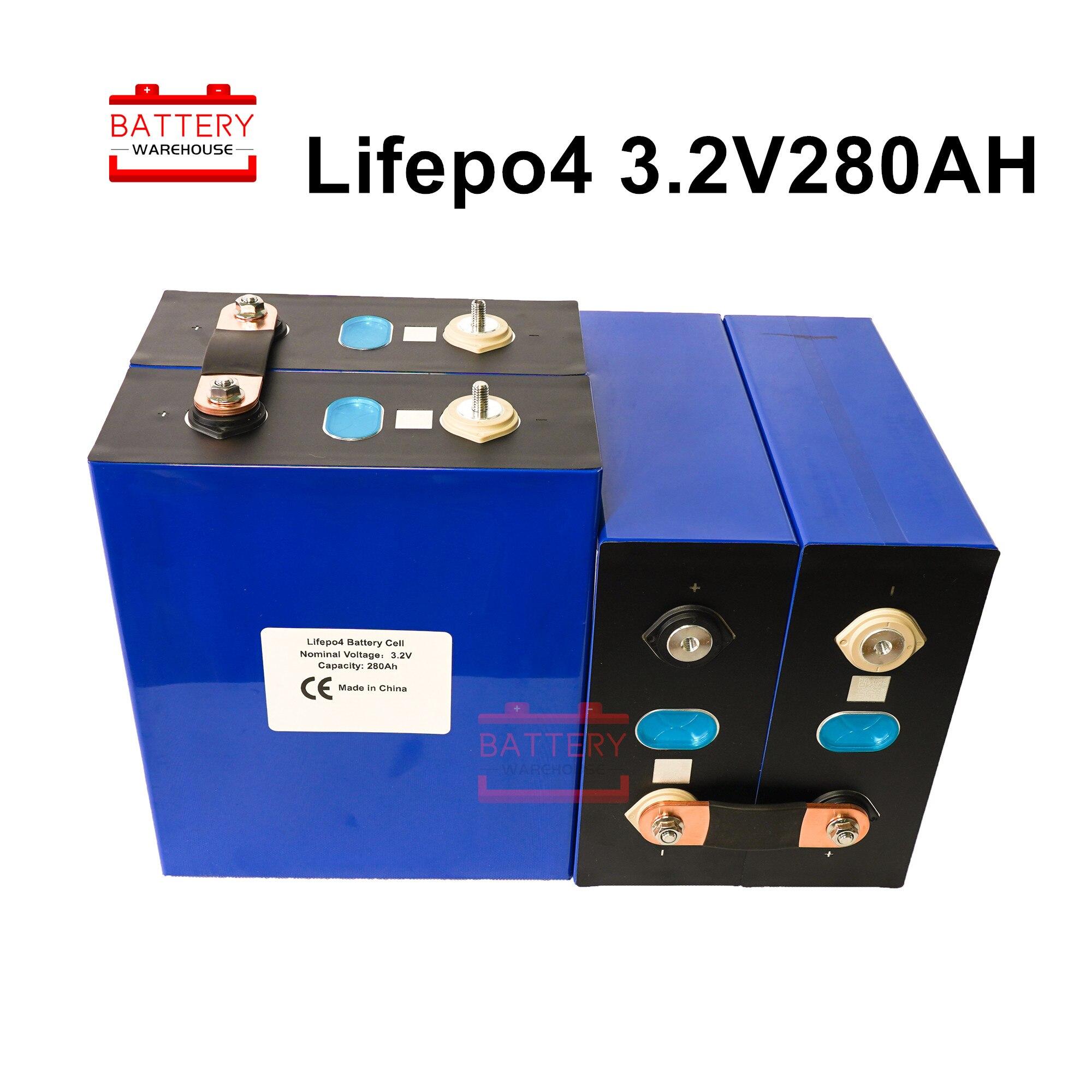 4 pièces 3.2V280AH LIFEPO4 batterie cellule 2020 nouvelles Batteries rechargeables Lithium fer pour 12V300AH pour RV solaire EV ue US sans taxe