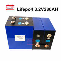 4PCS 3.2V280AH LIFEPO4 battery cell 2020 new Rechargeable Batteries Lithium iron for 12V300AH for RV SOLAR EV EU US TAX FREE