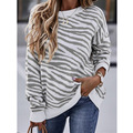 T-shirt Sweatshirt European and American Women's Tie-dye Stripes Printed Long Sleeve 2020 Fall/winter 2020 Nian Autumn O-neck