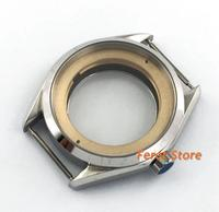 41mm Polished case watch accessories Bottom cover Fit eta 2836 miyota 8205,8215,821A;mingzhu DG2813,3804 movement p242