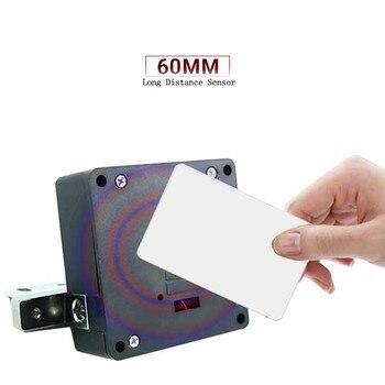 Nova indução invisível escondida rfid abertura livre sensor inteligente armário de bloqueio armário armário gaveta bloqueio inteligente