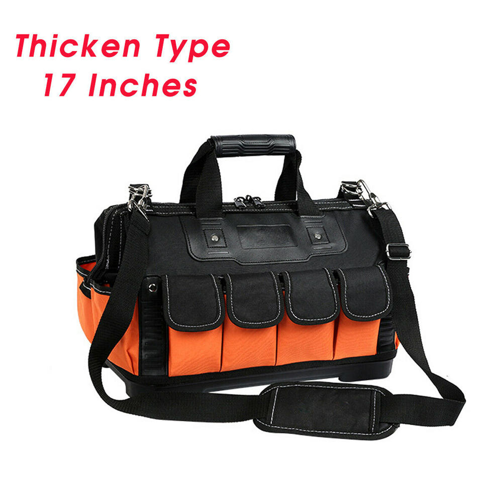 13/17inch Thicken Electrician Heavy Duty Oxford Cloth Handheld Wear Resistant Shoulder Tool Bag Storage Organizer Protective