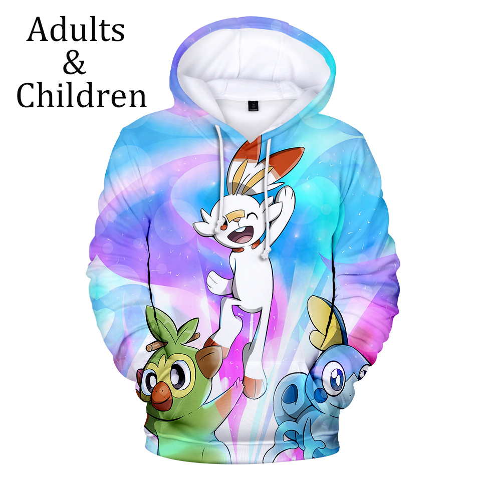 New Pokemon Sword And Shield 3D Hoodies Men Women Sweatshirts Casual Print Kids 3D Hoodies Autumn Boys Girls Autumn Pullovers