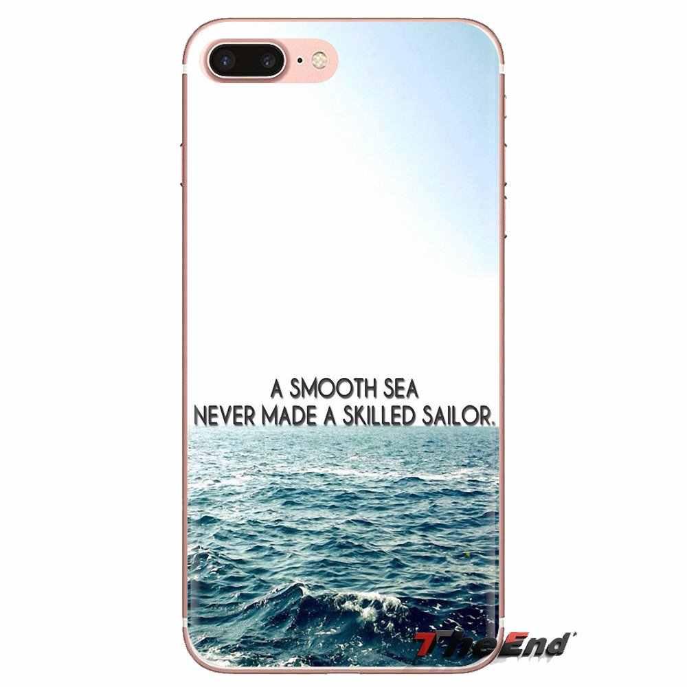 Yumuşak Kılıf Pürüzsüz Deniz Asla Usta Denizci Huawei P Akıllı Için Y6 P8 P9 P10 Artı Nova P20 Lite pro Mini 2017 SLA-L02 SLA-L22 2i