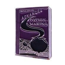 Poção mágica avançada que faz o livro pino de lapela snape meio sangue príncipe broche bruxaria feiticeiro acessório