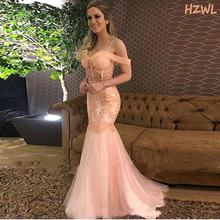 Женское вечернее платье с юбкой годе розовое прозрачное кружевное