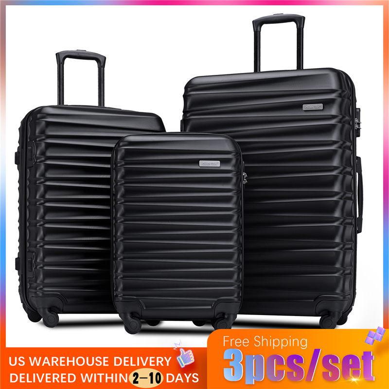 7 Color 3 Piece Set Travel Tolley Case Luggage Suitcase Spinner Mute Wheels Rolling Luggage Women Men 20 24 28inch