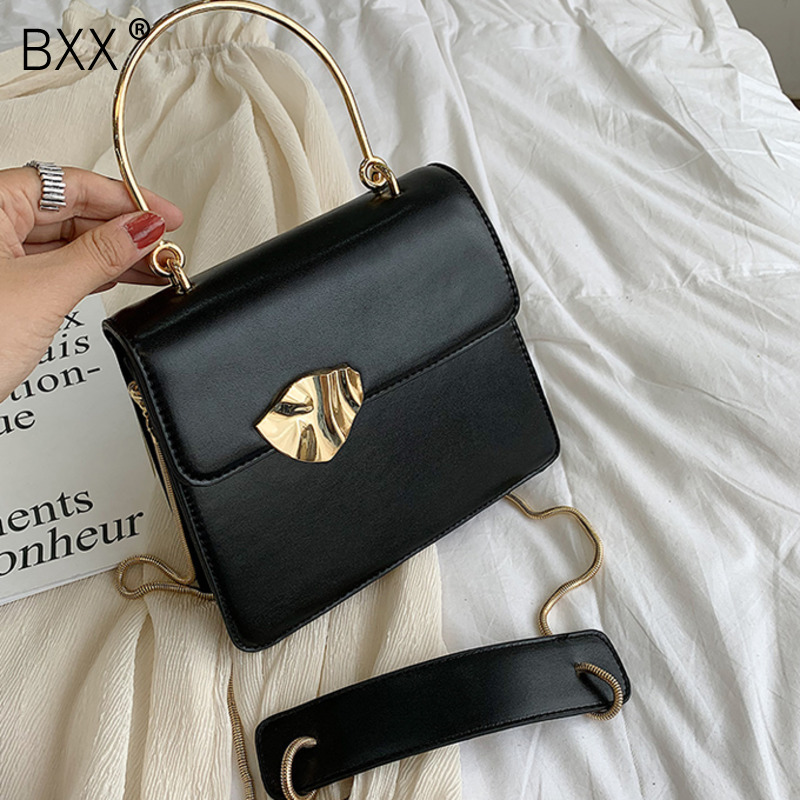 [BXX] Quality PU Leather Crossbody Bags For Women 2020 Fashion Designer Small Handbags Chain Shoulder Messenger Bag Purses HK929