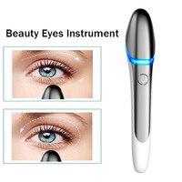 Facial Eye Massager Heating Vibration Skin Rejuvenation Tools Beauty Eyes Instrument Anti Aging EMS RF Thin Face Eye Wrinkle Pen