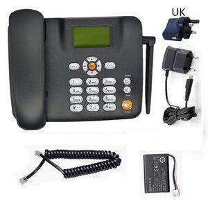 Беспроводной телефон Поддержка 2 GSM sim-карты фиксированный черный стационарный телефон стационарный беспроводной телефон домашний офис дом Арабский Русский