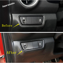 Lapetus Front Head Lights Lamp Switch Button Frame Cover Trim ABS Fit For Kia Forte / Cerato / K3 2019 2020 Accessories Interior lapetus front head lights headlamp switches button frame cover trim abs fit for hyundai kona 2018 2019 accessories interior