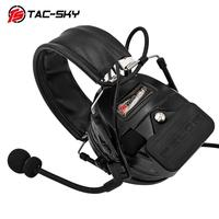 outdoor sports TAC-SKY COMTAC I silicone earmuffs outdoor hunting sports noise reduction pickups military tactical headphones BK+U94PTT (4)