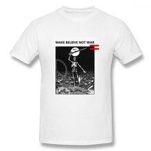 2019 funny tee cute t shirts Make Believe Not War Love men short sleeves cotton tops cool shirt summer