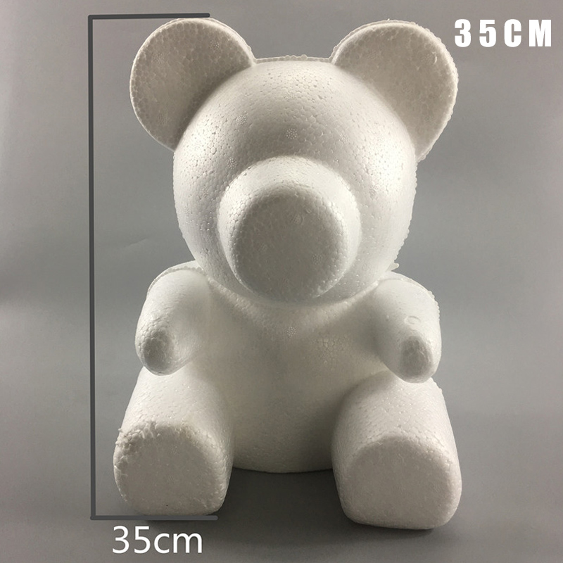 White Foam Bear Mold DIY /144pcs1 Pack Mini Rose Bouquet Valentine's Day Party Gift Foam Bear Decoration Craft Suppli HUG-Deals