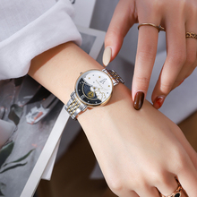 Cadisen Merk Nieuwe Vrouwen Gift Fashion Quartz Horloge Relogio Feminino Dames Luxe Rose Gouden Horloge Vrouwelijke Moon Phase Horloge