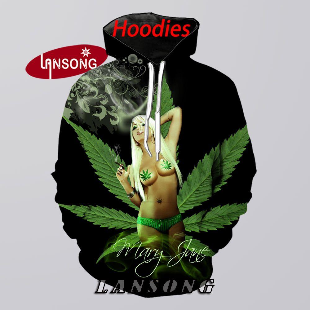 Mary Jane Weed  Hoodies Men 3d Print Hooded Sweashirts/pants Fashion Harajuku Pullover Funny Cool Streetwear Hip Hop Hoody Coats