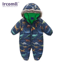 Ircomll  Winter Toddle Baby RompersThick Climbing Clothes Newborn Boy Girl Warm Jumpsuit Christmas Hooded Outwear 0-24M