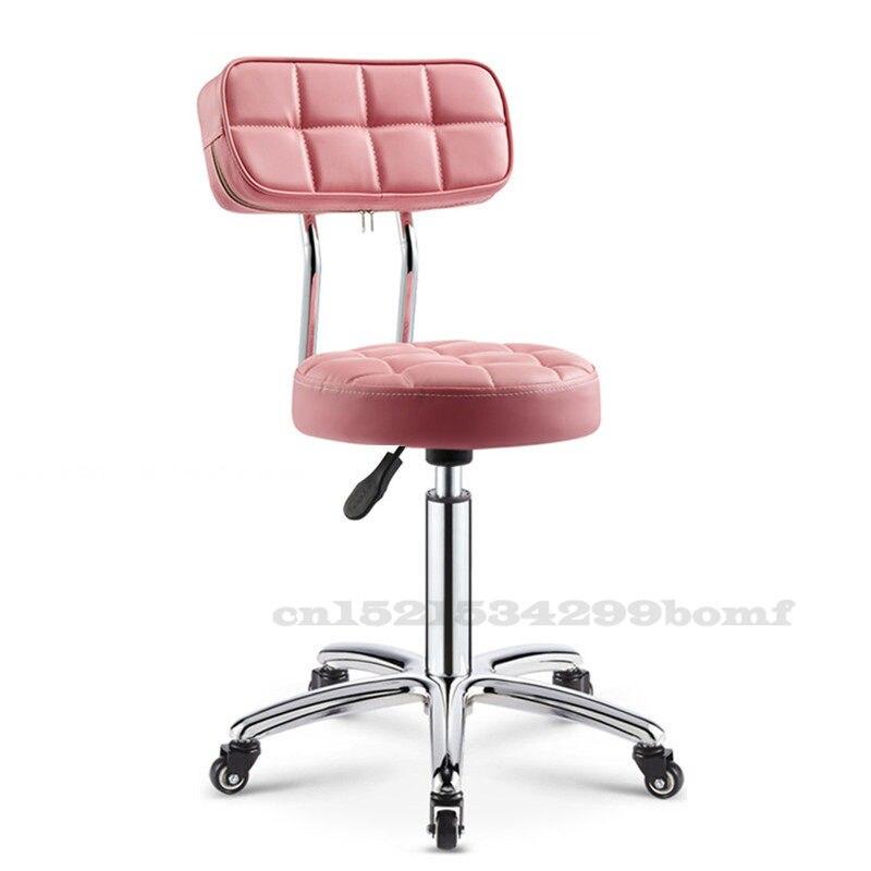 Barber Chairs Hairdressing Salon Chair Rotating Lifting Pulley Beauty Stool Work Bench Makeup Hair Salon Nail Stool