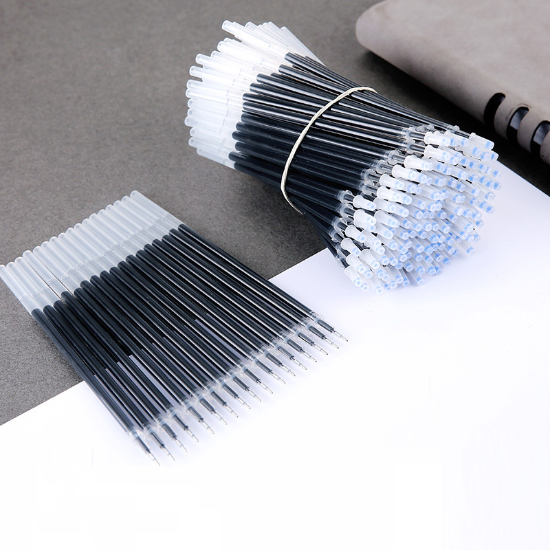 20 Pcs Wholesale Stationery Black Refills 0.5mm Factory Direct Office Supplies Kawaii Stationary Pen Refill Colorful Stationery