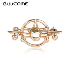 Badge Suit Brooches Scarf Pins Airplane Vintage Blucome Collar-Clip Aircraft Christmas-Gift