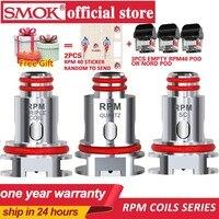 Новые 5 шт/упаковка, шт./кор. SMOK RPM40 катушки 0.4ohm RPM40 сетки 0.6ohm тройной 1.2ohm кварцевые 1ohm SC сменная катушка для SMOK RPM40 набора вапоризатора