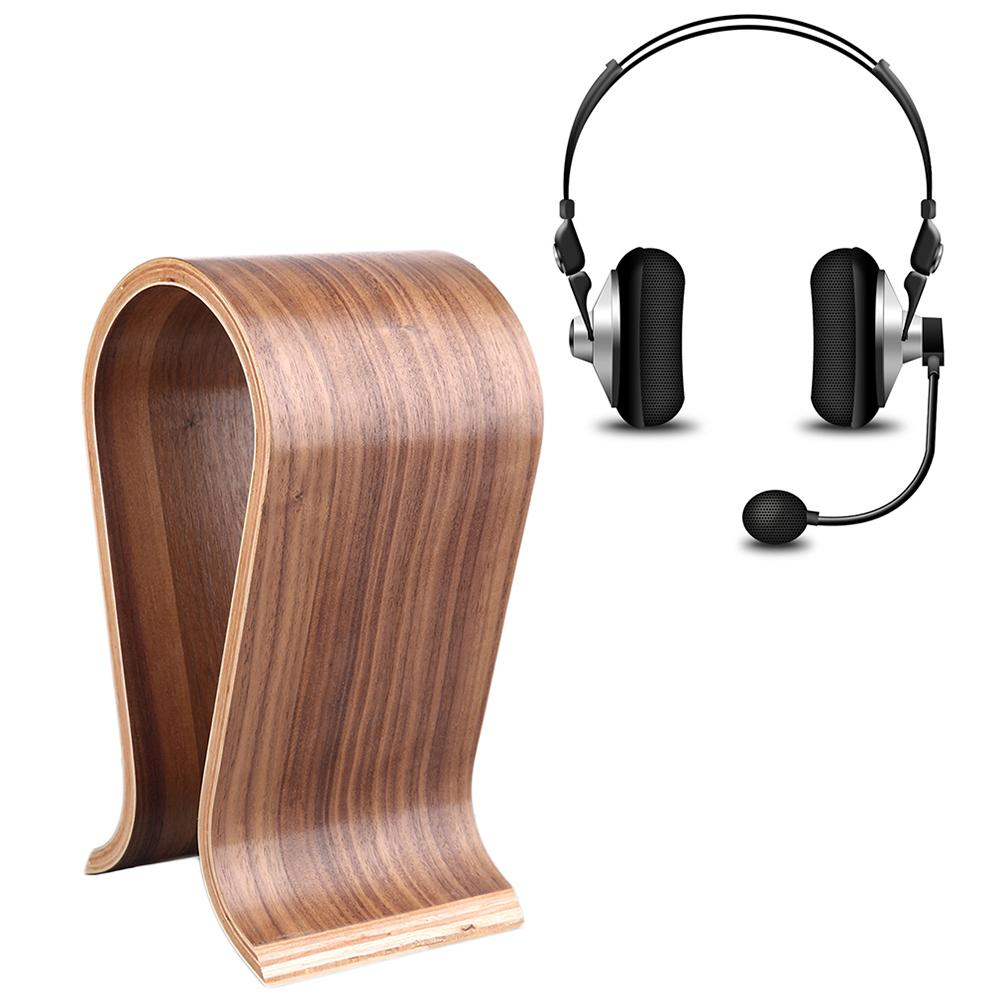 Universal U-Shaped Wooden Stand for On-Ear Over-Ear Around-Ear Headphone Headset