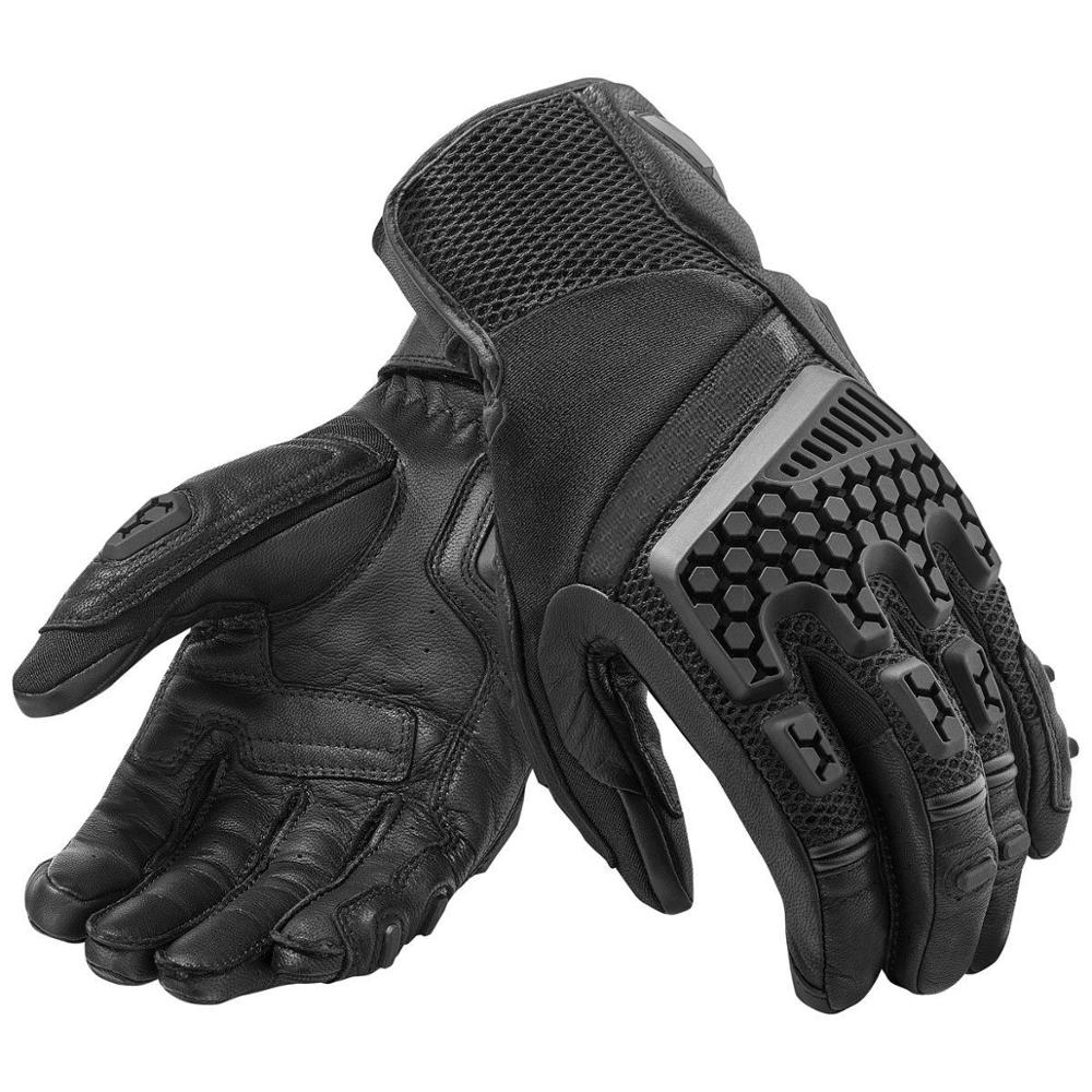 Motorrad handschuhe Sand 3 Handschuhe Sommer Camps Leder Motorrad Touring Abenteuer Handschuhe Schwarz