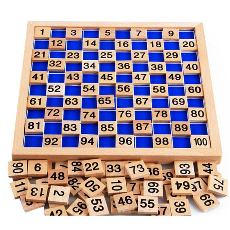 Montessori Educational Wooden Toys For Children Baby Toys 1-100 Digit Table Math Teaching For Kids