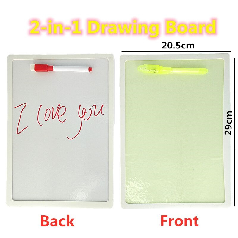 Ha92fa61b6fcf478cb3932f468108cb959 - Educational Toy Drawing Board Tablet Graffiti 1pc A4 A3 Led Luminous Magic Raw With Light-fun