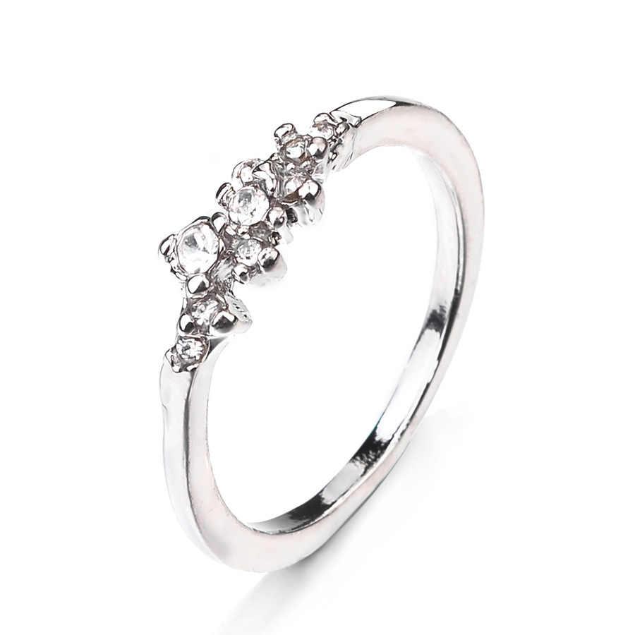 2019 Vintage קריסטל טבעות נשים אביזרי זהב טבעת נשים תכשיטי אירוסין טבעת כסף מצופה טבעות נקבה ליידי מתנה
