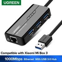 Ugreen adattatore Ethernet USB USB 3.0 da 2.0 a RJ45 Hub USB per Xiaomi Mi Box 3/S Set-top Box adattatore Ethernet scheda di rete USB Lan