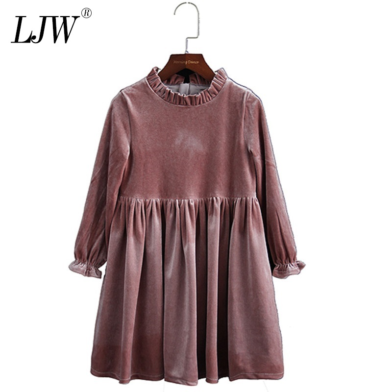 Kids Winter Dresses For Girls 2019 Autumn School Child Clothes  3-12 Yrs Teenage Girl Velvet Evening Christmas Party Gown