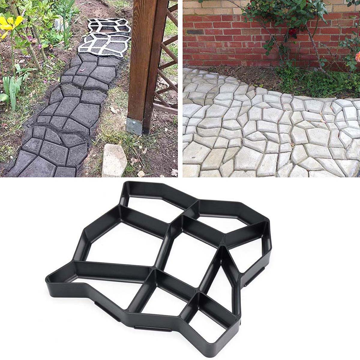 cheapest Garden Antique Making Tools Square Brick Home Landscape Road Concrete Molds DIY Stepping Stone Casting Craft Yard Decor Paving