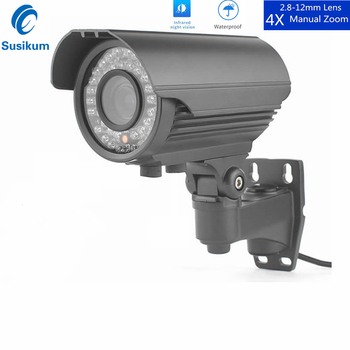 цена на 2MP 48V POE IP Camera Outdoor Metal Infrared Night Vision 2.8-12mm Manual Zoom Lens Waterproof Bullet HD Camera 1080P