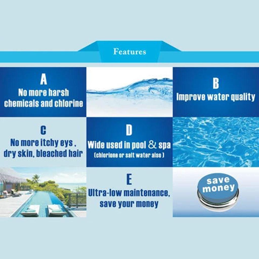 Poster - Solar Pool-Ionizer Copper Silver Ion Swimming Pool Purifier Water Purifier Kills Algae Solar Pool Ionizer