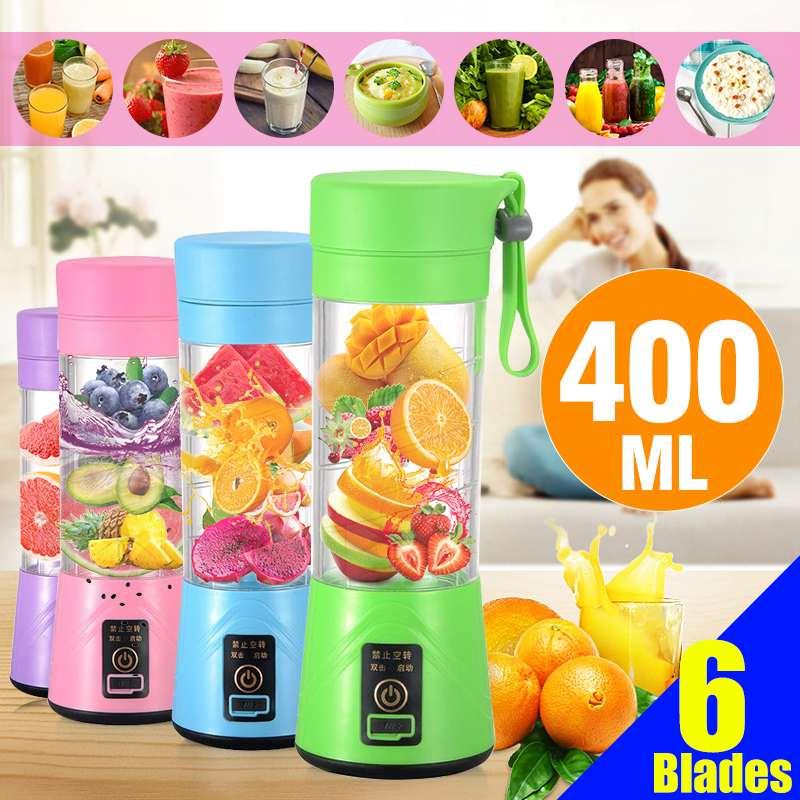 400ML portátil USB Handheld Agitação Liquidificador Liquidificadores Espremedor de Frutas Elétrico Recarregável Mini Portátil Xícara De Suco de Água